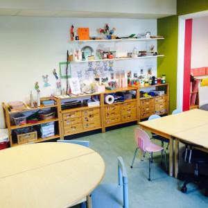 Barnens lådor i skaparrummet